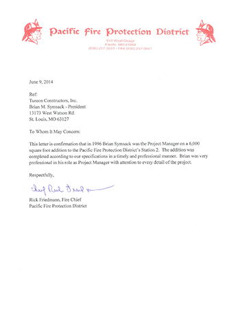 recommendation letter from Rick Friedman